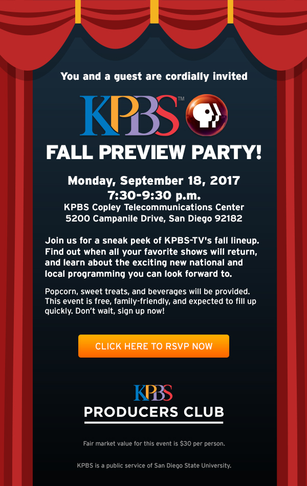 KPBS Fall Preview Party