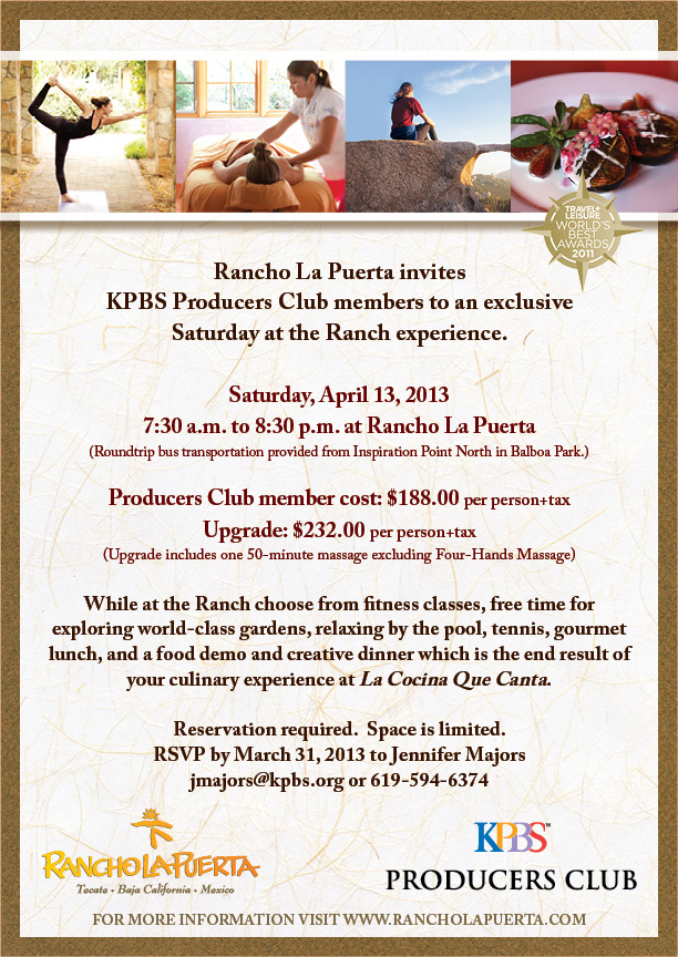 Saturday at the Ranch at Rancho La Puerta